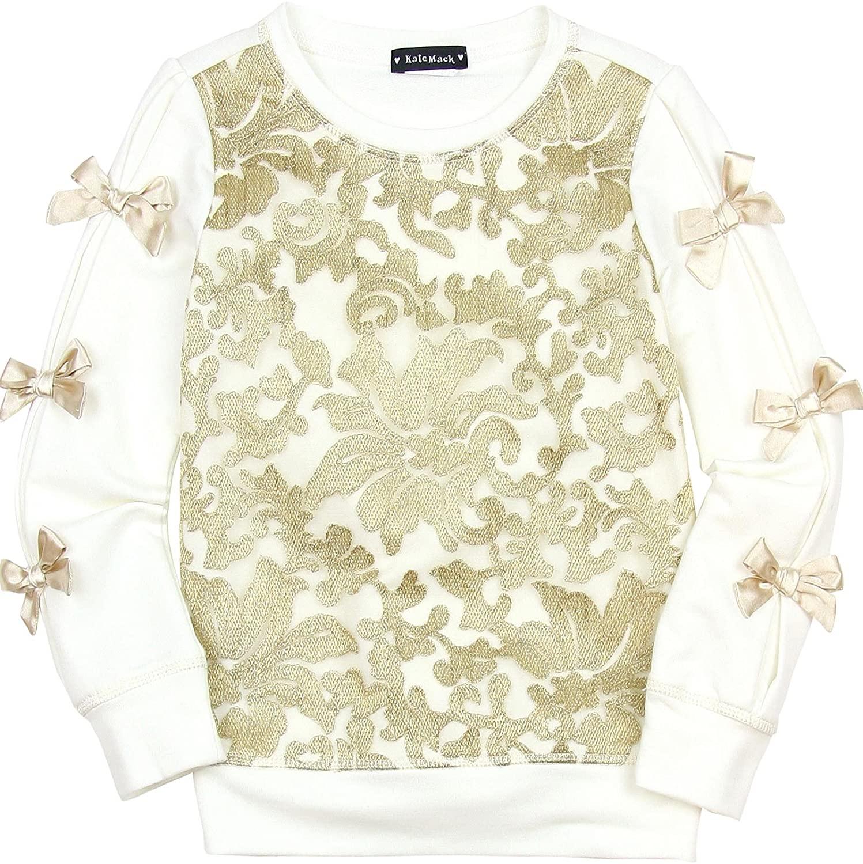 Kate Mack PreviewKate Mack Girls Spun Gold Sweatshirt Cream, Sizes 4-12