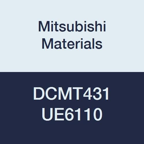 Mitsubishi Materials DCMT431 UE6110 Carbide DC Type Positive Turning Insert with Hole, CVD Coated, Rhombic 55°, 0.5
