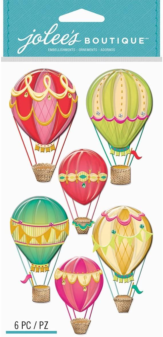 EK Success EK Jolee's Boutique Large Hot Air Balloons Jolee'sBoutiqueLgHotAirBlloons