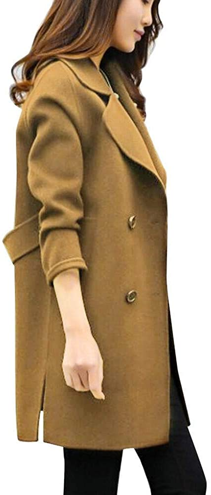 NREALY Women's Jacket Fall Winter Jacket Casual Outwear Parka Cardigan Slim Coat Overcoat