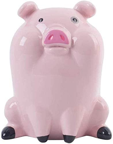 Piggy Bank TWGDH Piggy Bank can only go in and Out is not Desirable for Children's Creative Girls Ceramic Piggy Bank Pig