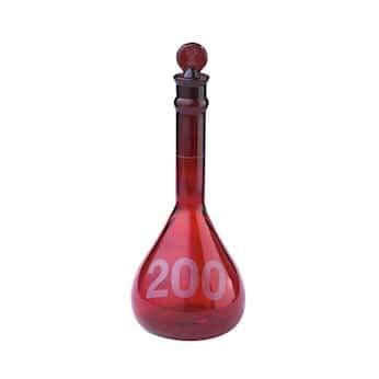 Kimax 92822G-100 Ray-Sorb Glass Volumetric Flask, Wide-Mouth, 100 mL; 6/Cs