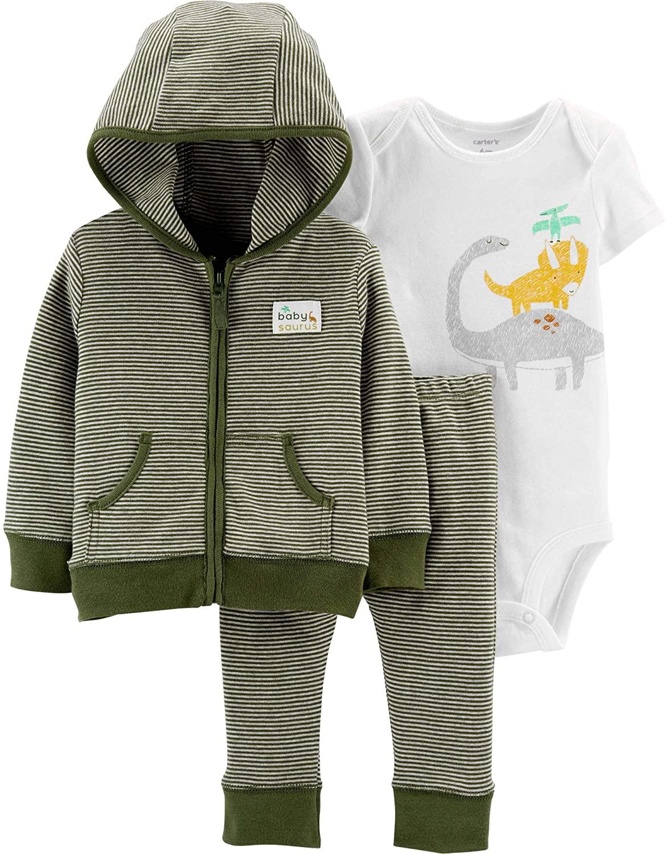 Carter's 3-Piece Dinosaur Little Jacket Set 9M 9 Months
