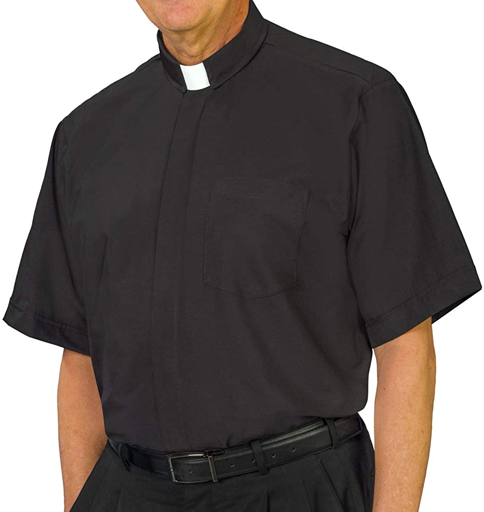 USA-Made Chapel Lane Short Sleeve Tab Collar Clergy Shirt