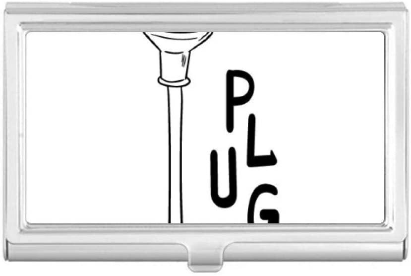 Three Hole Plug Line Hand-Drawing Business Card Holder Case Pocket Box Wallet