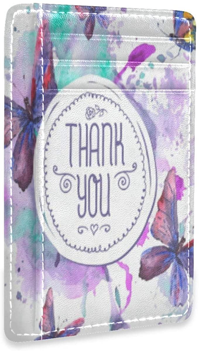 Thanksgiving Turkey Happy Rfid Credit Card Holders Wallet Womens Mens Gift Card Case Organizer