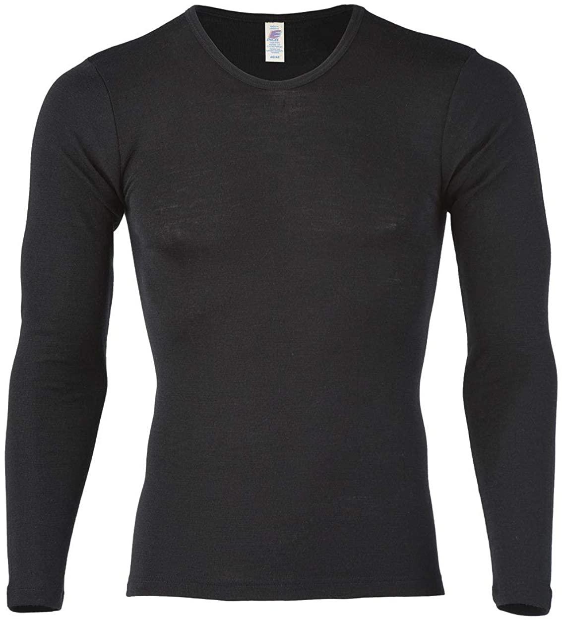 Engel 70% Organic Merino Wool 30% Silk Men's T-Shirt Long Sleeved. Made in Germany.