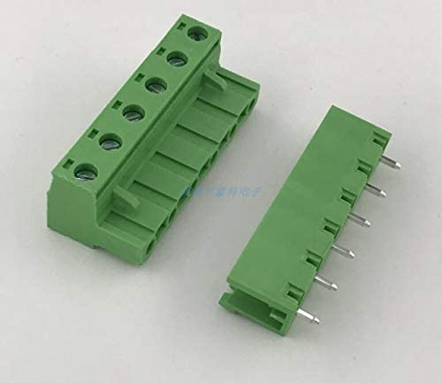 Davitu Electrical Equipments Supplies - 10sets 10sets Plug-in PCB Terminal Block 7.62MM Terminal Block K2EDG-7.62MM 2p-24p Male and Female Plug Green Terminal - (Color: Straight Needle, Pins: 5P)