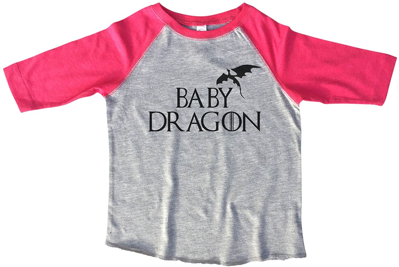 "Kids 3/4 Sleeves ""Baby Dragon"" Game of Thrones Toddler & Youth Baseball Tee"