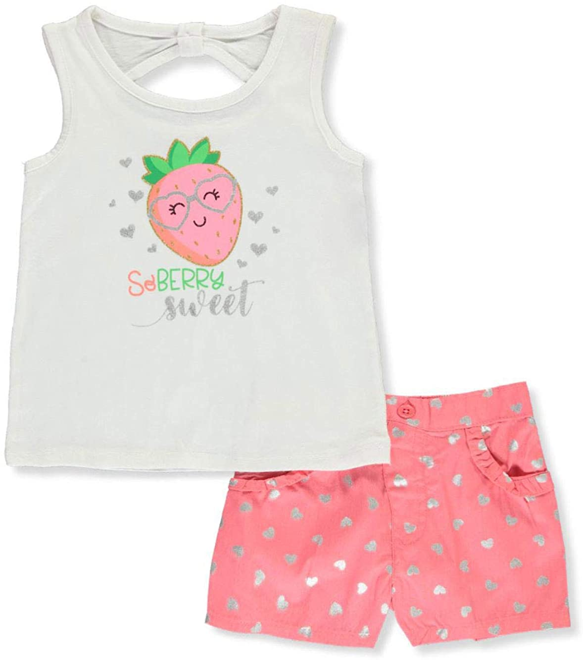 Real Love Girls' So Berry Sweet 2-Piece Shorts Set Outfit