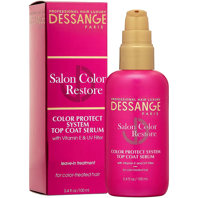 Dessange Salon Color Restore Color Protect System Top Coat Serum, 3.4 Fluid Ounce