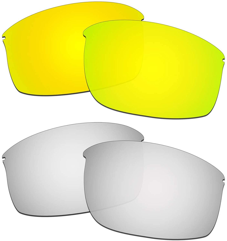 HKUCO Reinforce Replacement Lenses For Oakley Wiretap New 24K Gold/Titanium Sunglasses