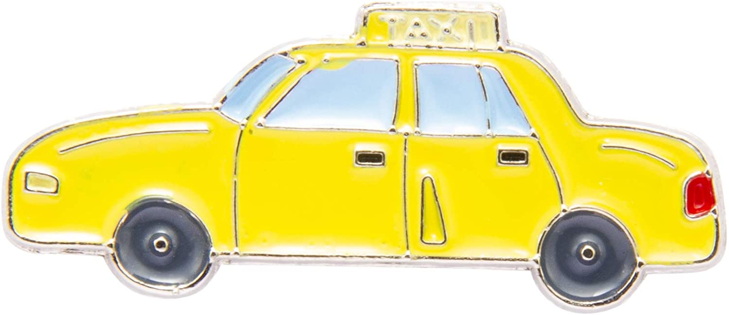Knighthood Yellow Taxi Lapel Pin Badge Coat Suit Jacket Wedding Gift Party Shirt Collar Accessories Brooch