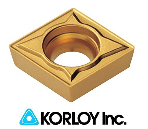10pc) Korloy CCMT 21.51-C25 NC3030 060204 Indexable Carbide Inserts