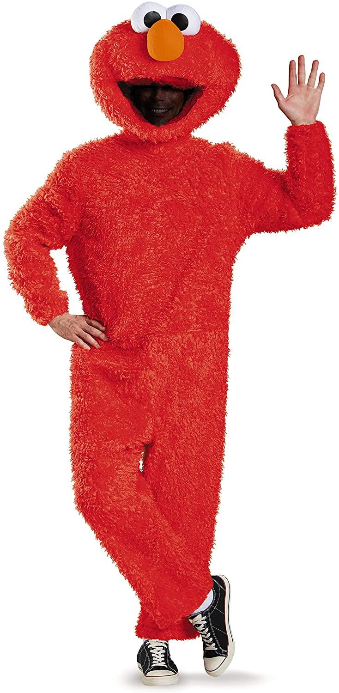 Disguise Mens Full Plush Elmo Prestige Adult Costume