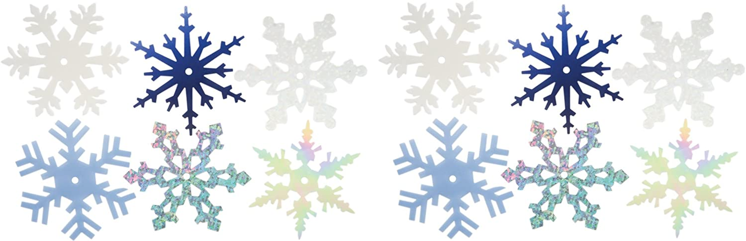 Creative Impressions CI63021 2-Inch Shimmer Snowflakes, Large, 50 Per Package (2 Pack)