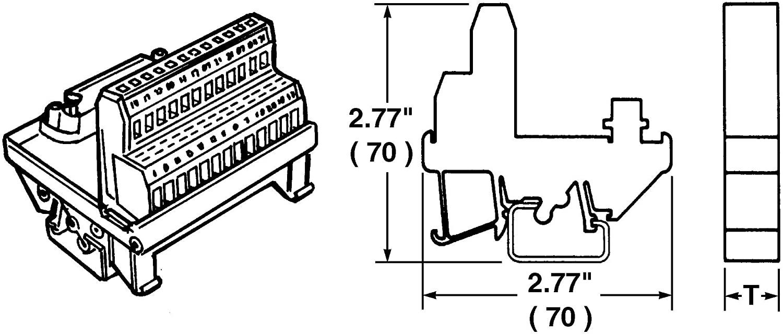 910644 - Terminal Block Interface, D Sub 15 Position Plug, Screw Type 16 Position Terminal Block, 1.5 A