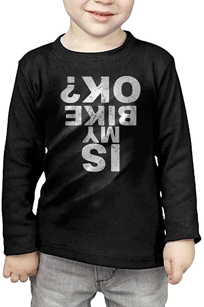 Is My Bike Ok Kids Essential Long Sleeve Round Neck Cotton T-Shirt