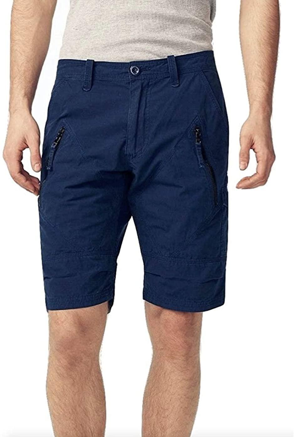 Armani Exchange AIX Utility Zip Short, Navy, Size 30