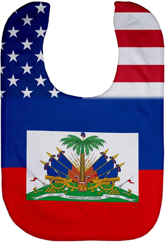 ExpressItBest Microfiber Baby Bib - Flag of Haiti (Haitian)