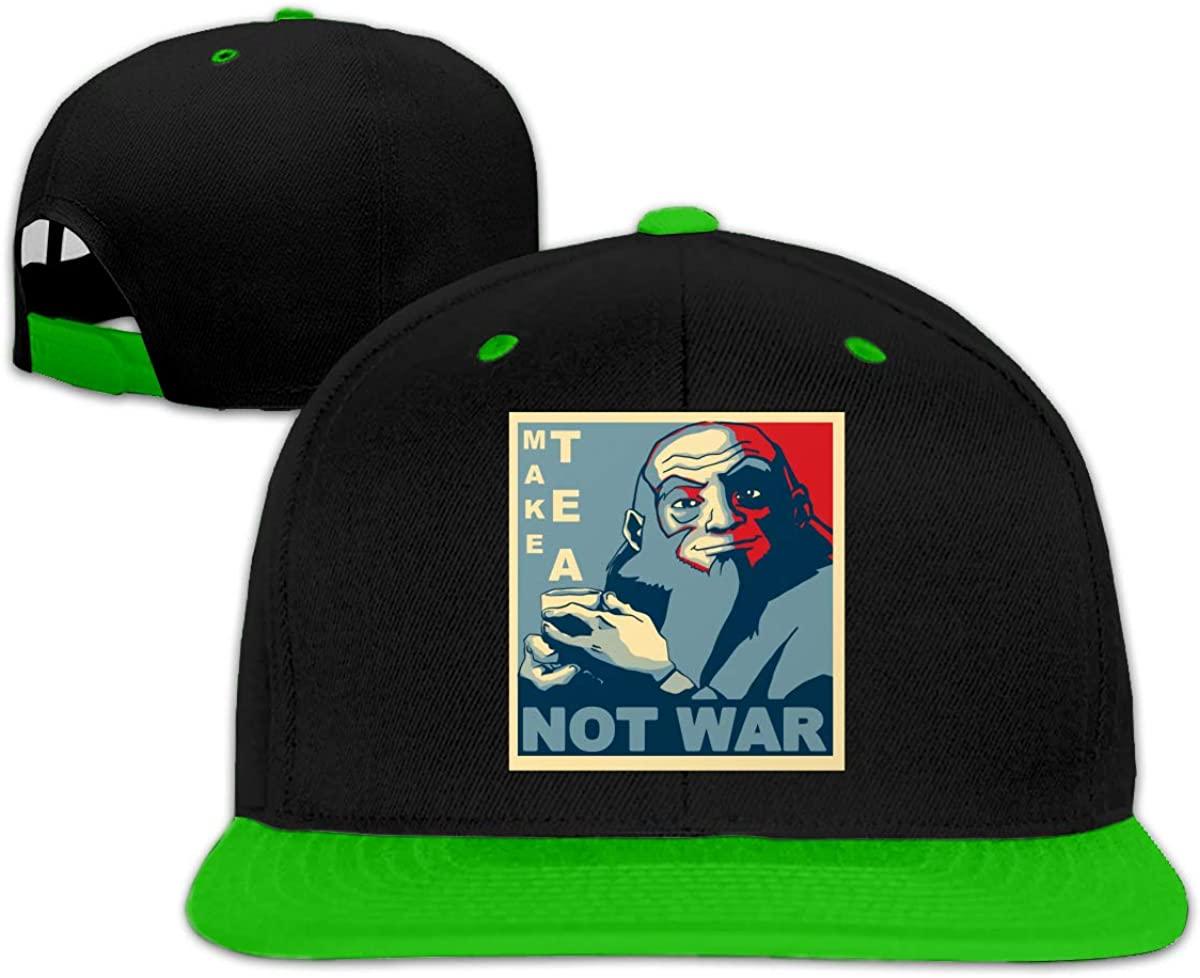 Make Tea Not War Unisex Adjustable Dad Hat Baseball Cap Hip Hop Baseball Cap Green