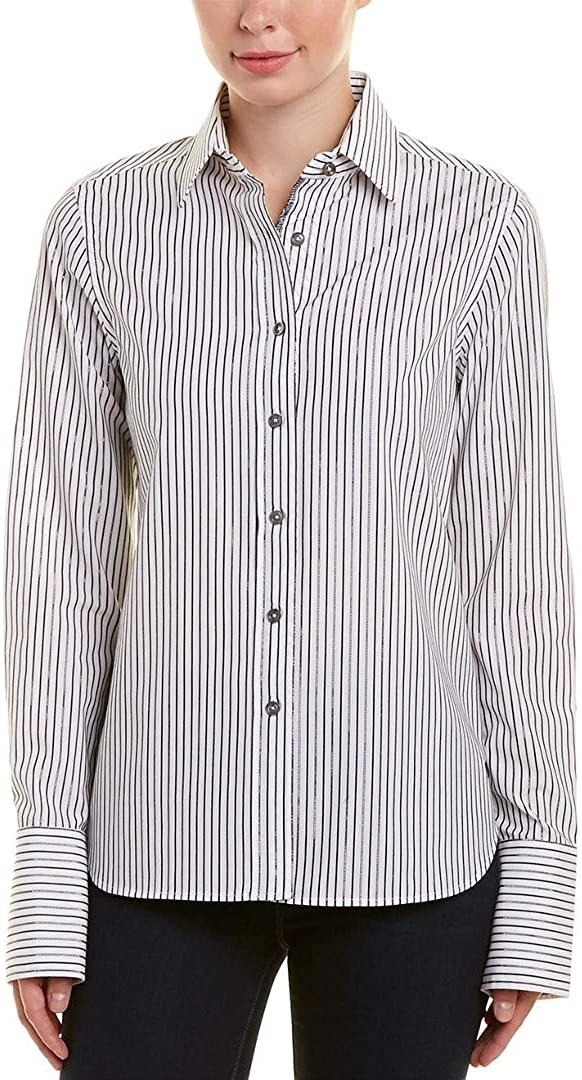 Robert Graham Priscilla Metallic Striped L/S Woven Shirt