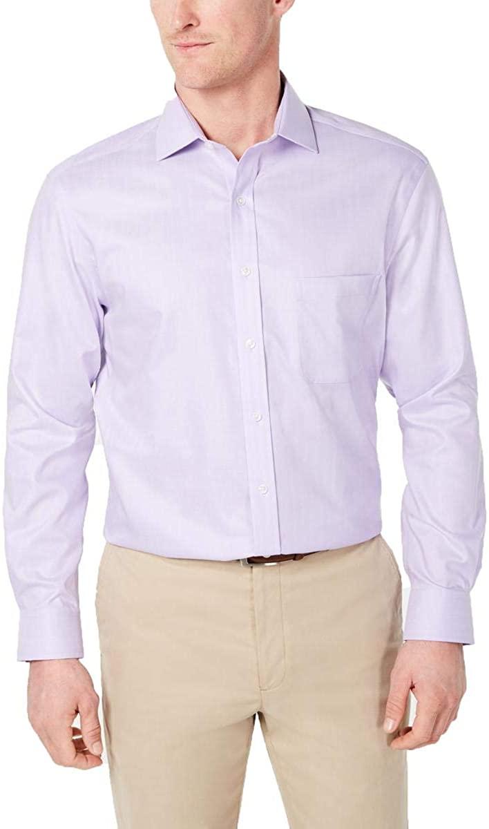 Tasso Elba Mens Supima Cotton Button-Down Dress Shirt