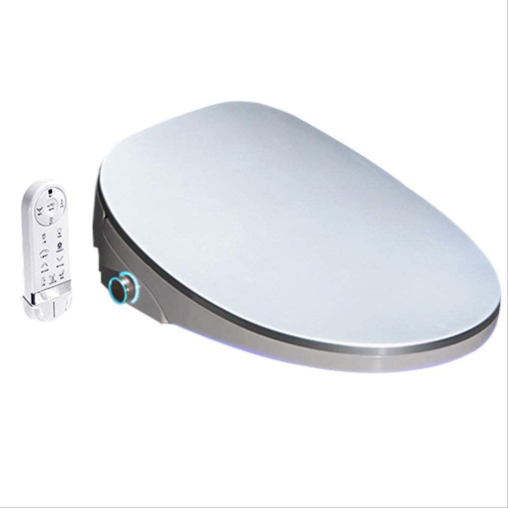 New 4 Color Wc Auto Spa Smart Toilet Seat Temperare Display Smart Knob Toilet Seat Cover Electronic Bidet Toilet Seat Silver