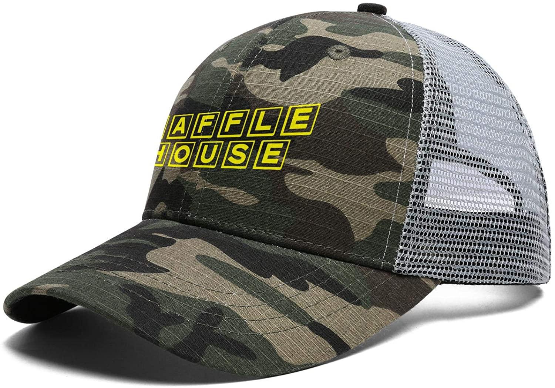 Cotton Mesh Back Black Baseball Hats Waffle-House-Logo-Wikimedia-Mens Womens Vintage Dad Hats