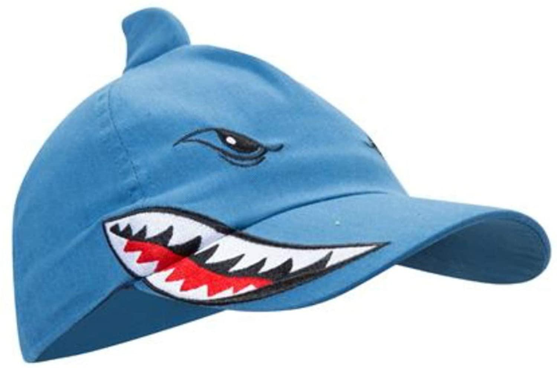 Shark Cap Kids Baseball Hat with Fin Blue One Size (4-12 yo) Adjustable Strap