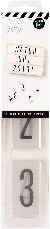 Heidi Swapp 312881 Pack Lightbox-Standard-Numbers-Black (50 Pieces)