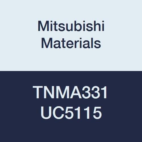 Mitsubishi Materials TNMA331 UC5115 CVD Coated Carbide TN Type Negative Turning Insert with Hole, Triangular, 0.375 IC, 0.187 Thick, 0.016 Corner Radius, Flat Top Breaker (Pack of 10)
