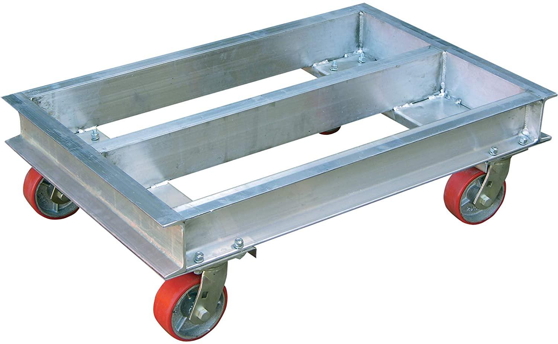 Vestil Aluminum Channel Dolly - 2,000-Lb. Capacity, 42in.L x 24in.W, Model Number ACP-2442-20