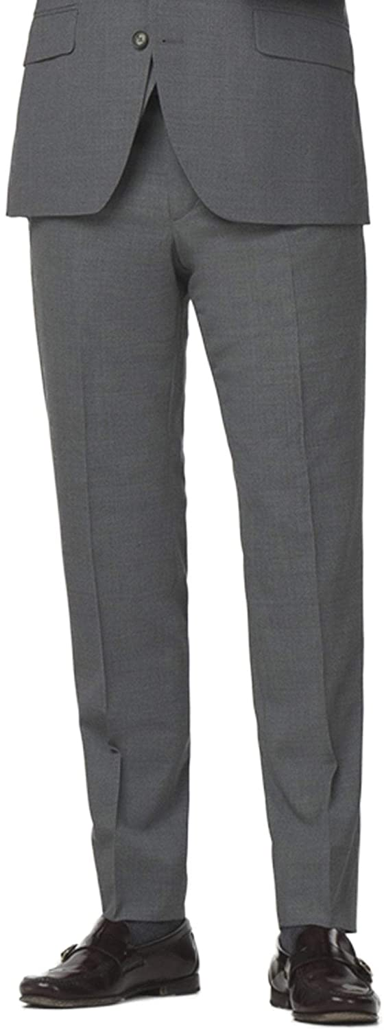 Gibson London Grey Semi Plain Trousers 38 Long Grey