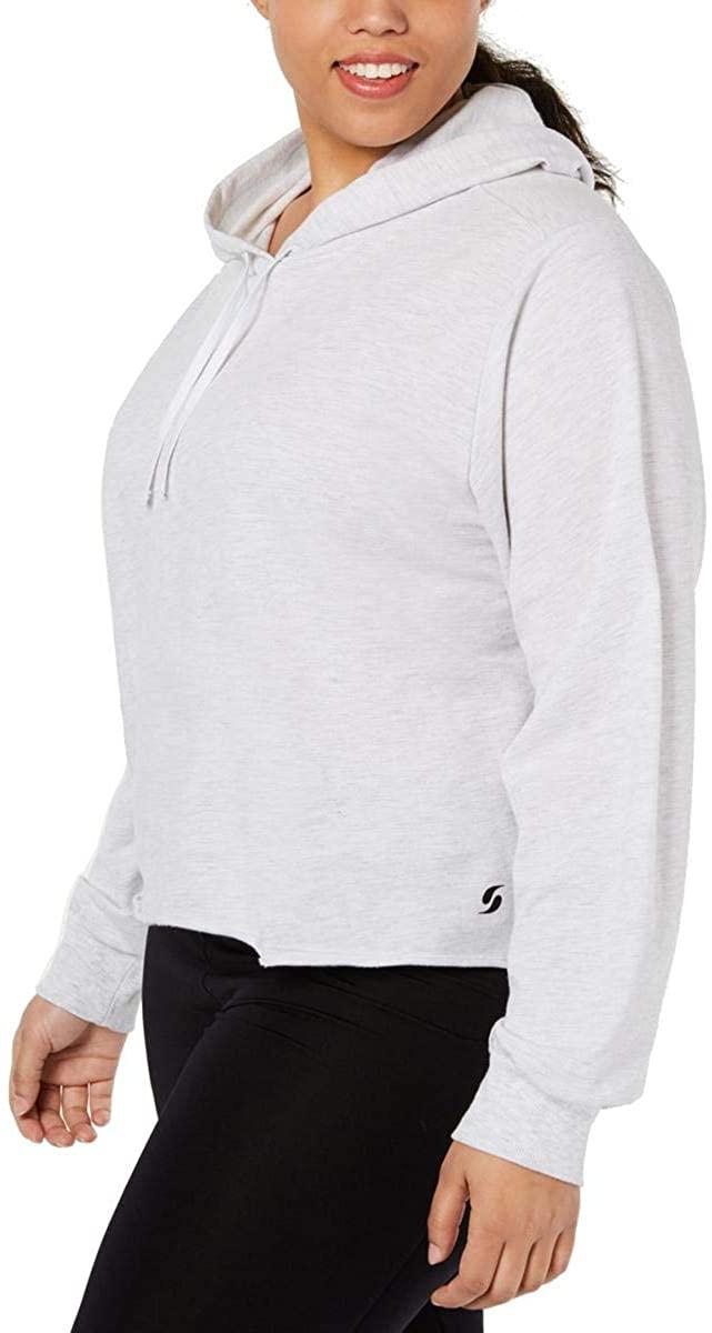 Soffe Womens Plus Cropped Workout Sweatshirt Gray 1X