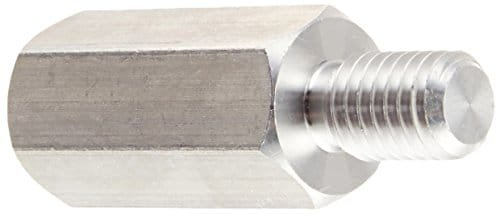 Hex Standoff, Male-Female, Aluminum, Plain Finish, 6-32 inch Screw Size, 1/4 inch OD, 5/16 Body Length, (Pack of 1000)