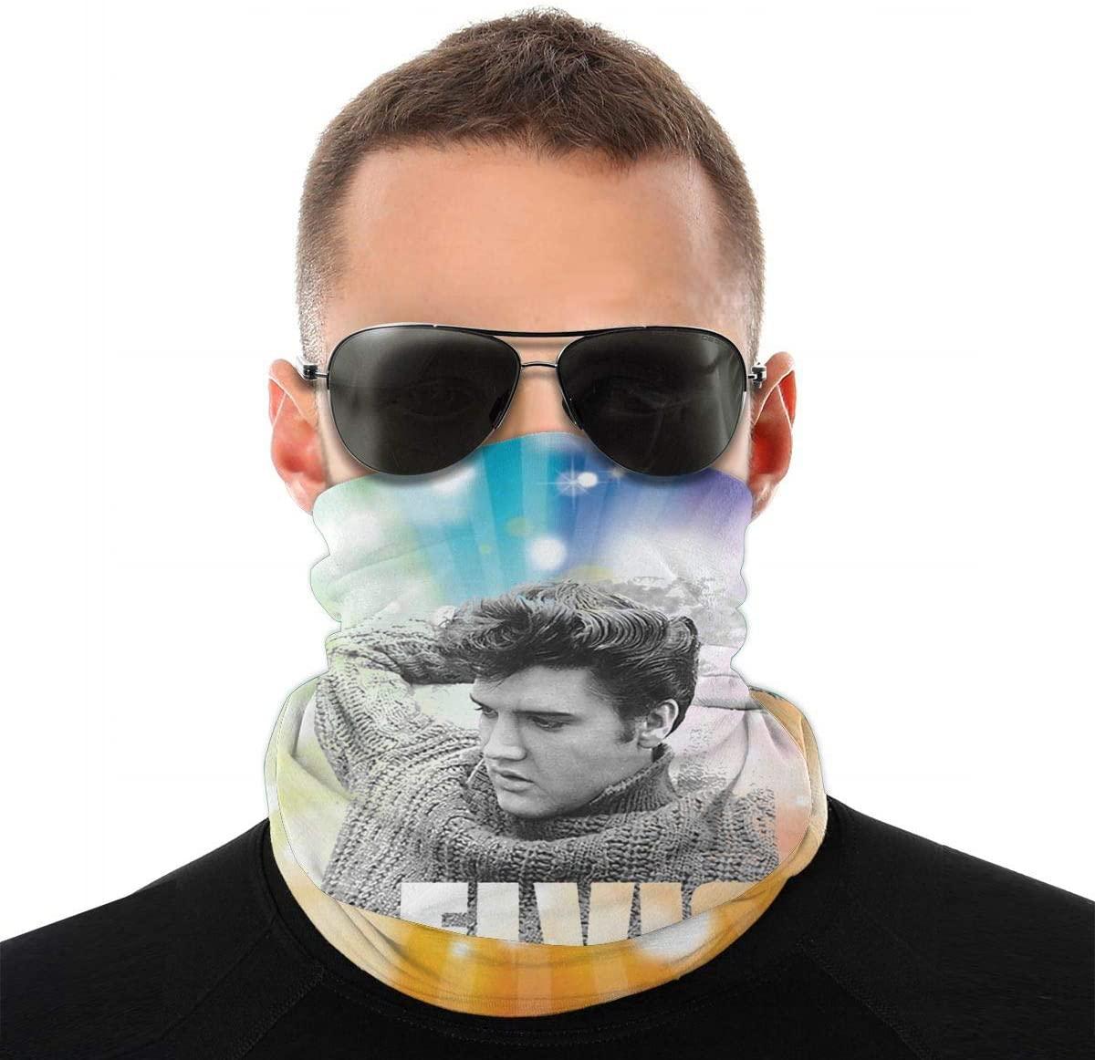 NOT Elvis Presley Relaxing Poster Headwrap Scarf Face Neckerchief