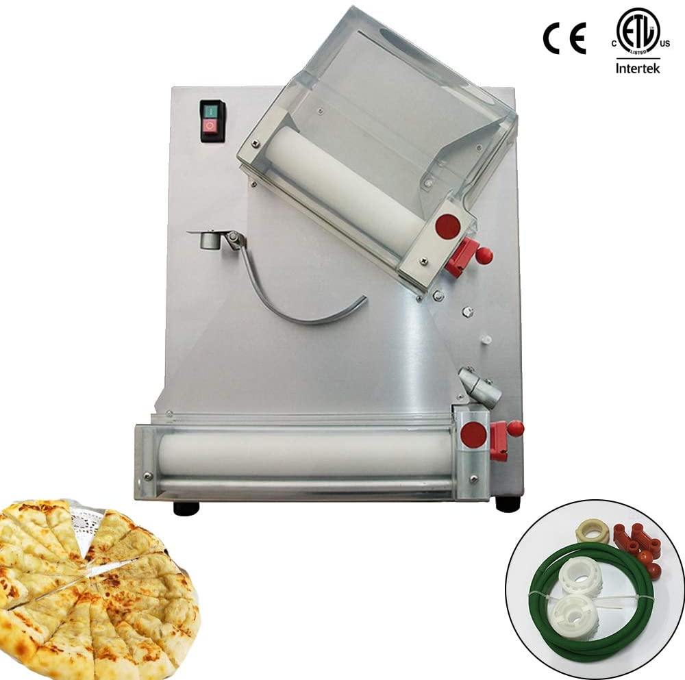 Chef Prosentials Electric Commercials Dough Sheeter 12 inch 100-300 mm Pizza Bread Press Machine Croissant Maker Roller