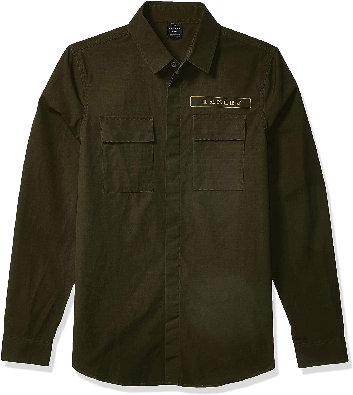Oakley Men's Icon Cargo Shirt - 100 Percent Cotton Woven Shirt - Reflective Oakley Badging - Modern Camouflage Shirt for Men