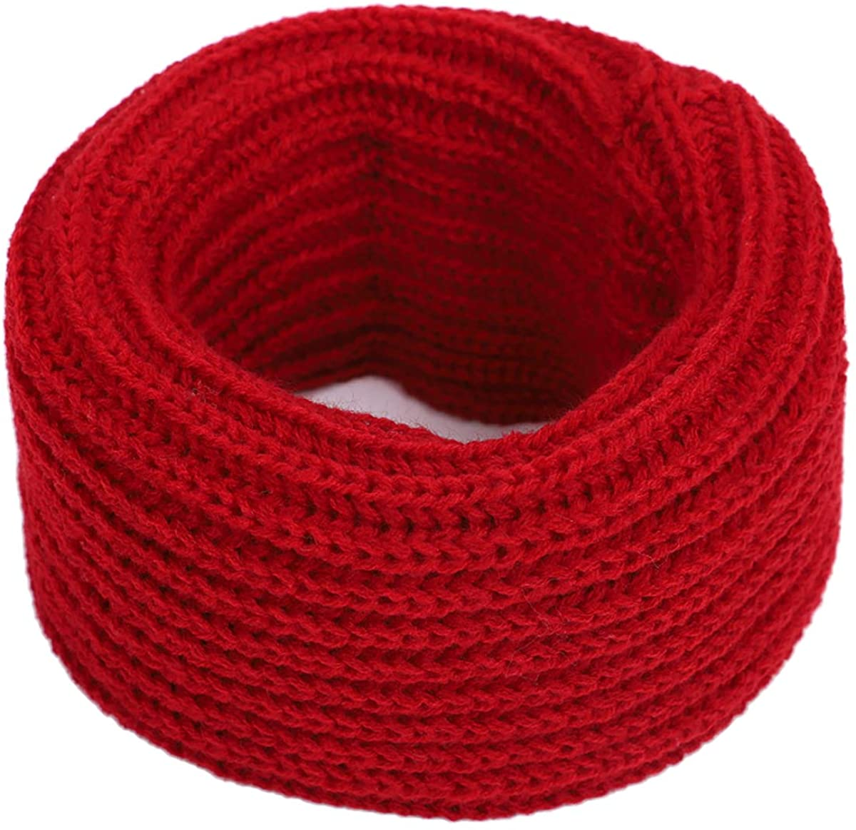 LKXHarleya Baby Kids Solid Color Cable Winter Knit Infinity Scarf Neck Warmer
