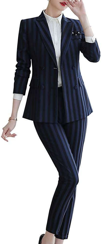 Women's 2 Piece Blazer Pant Suits Long Sleeve Business Suits for Women Work Blazer Pantsuits