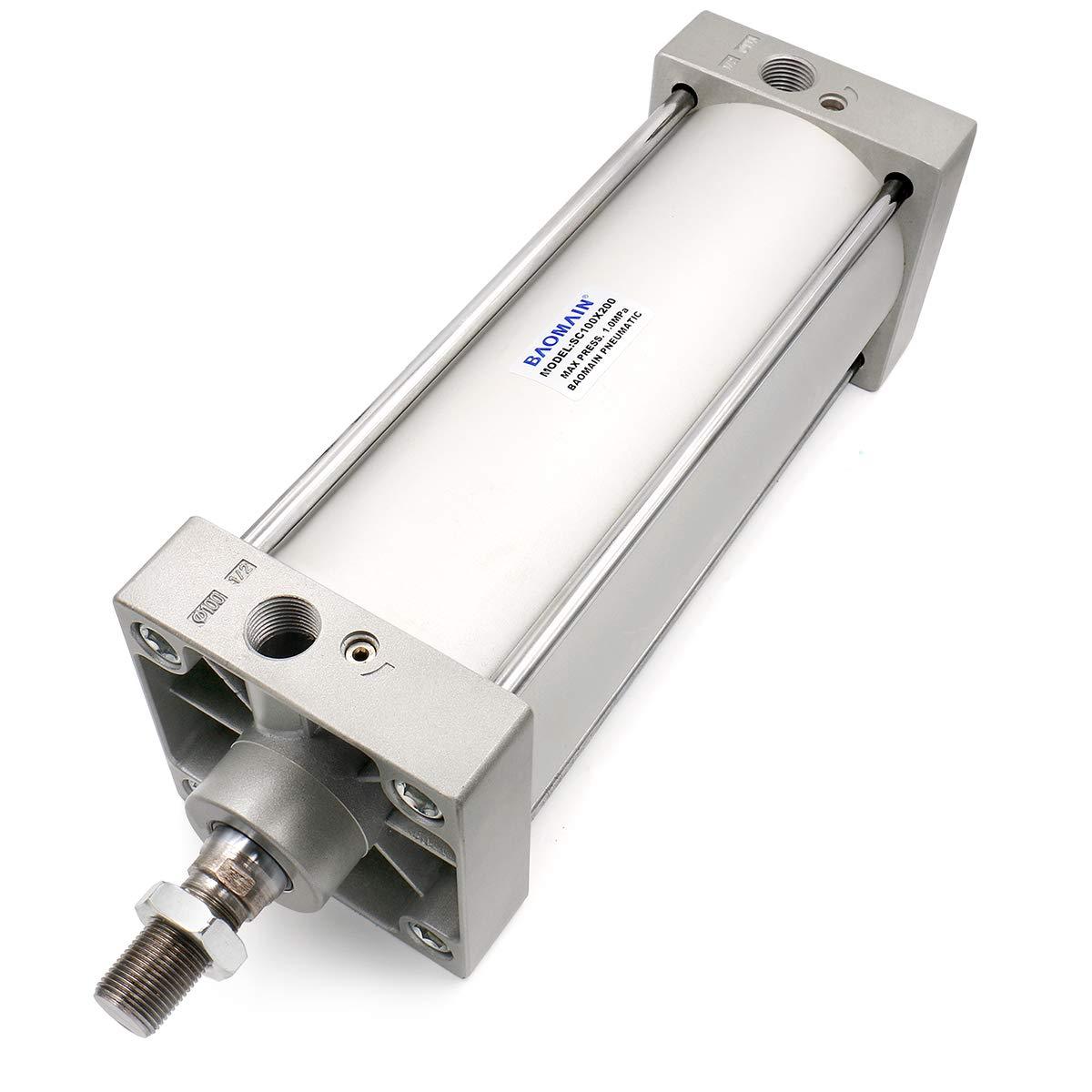 Baomain Pneumatic Air Cylinder SC 100 x 200 PT1/2; Bore: 4