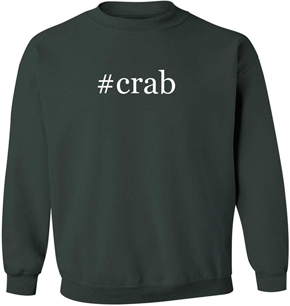 #crab - Men's Hashtag Pullover Crewneck Sweatshirt