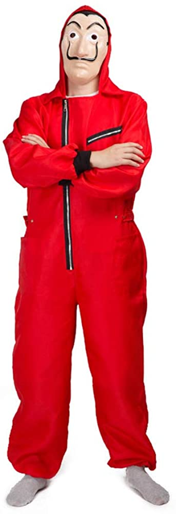 Unisex Dali Mask Red Costume for La Casa De Papel Season 3 Coverall Jumpsuits