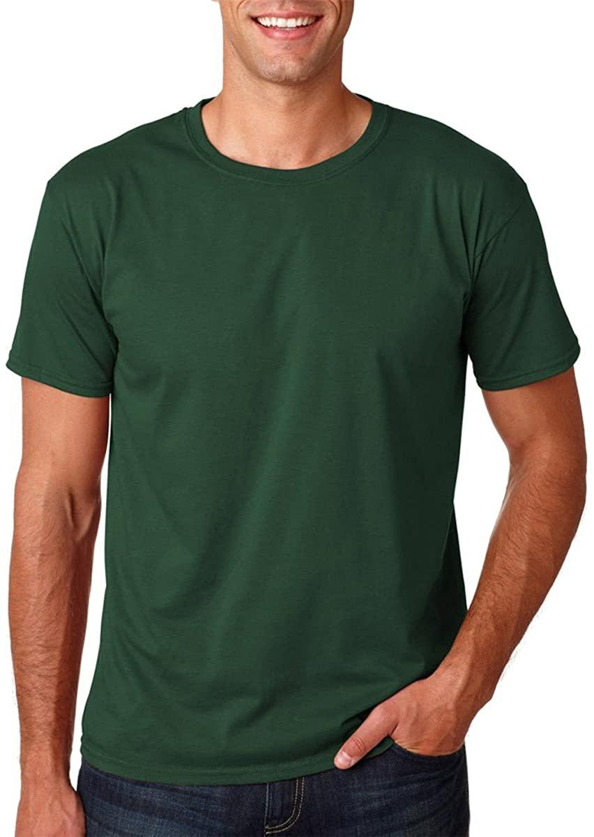 Gildan Men's Softstyle Ringspun T-shirt - X-Large - Forest green