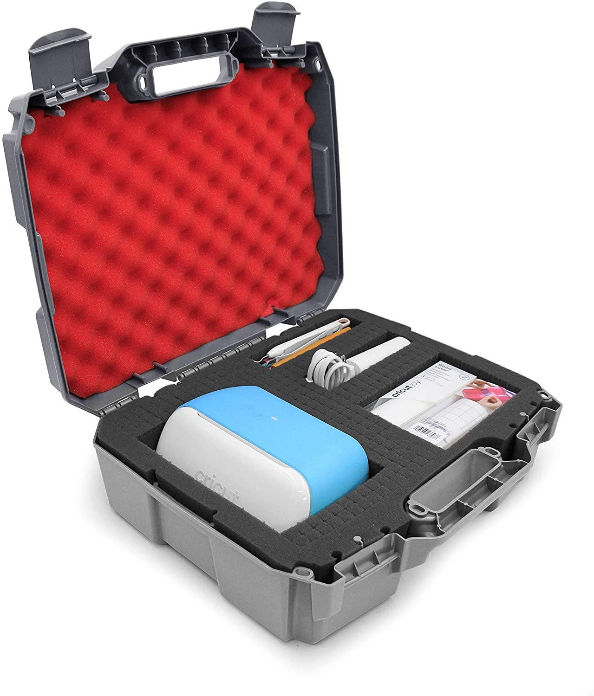 CASEMATIX Hard Travel Case Compatible with Cricut Joy Machine & Accessories