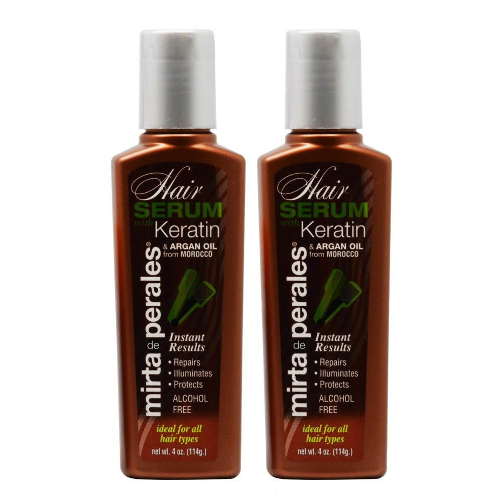 Mirta De Perales Keratin Hair Serum with Argan Oil 4oz