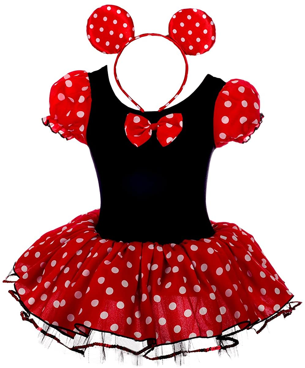 Dressy Daisy Girls' Polka Dots Halloween Christmas Fancy Dress Dance Costume w/Headband