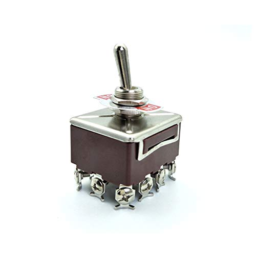KN402 4PDT ON/ON 2 Position 12 Pin Toggle Switch 12mm Mounting Holes 10A/380VAC 15A/250VAC