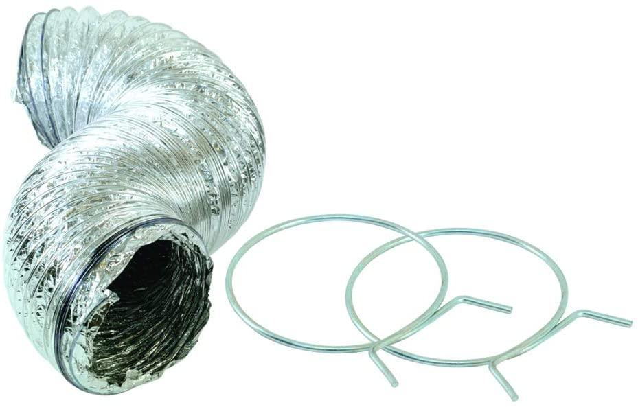 Lambro 60612 Flexible Aluminum Dryer Duct, 4 inch x 25 ft, Long, Silver
